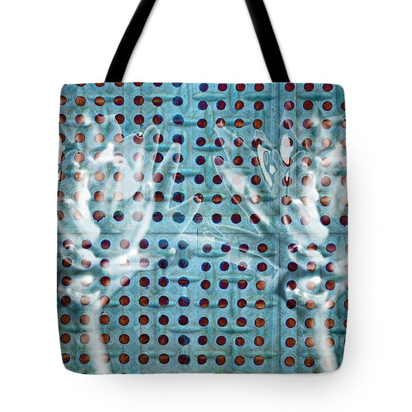 Tote Bag featuring the photograph Hosta Flowers On A Rubber Mat by Suzanne Powers
