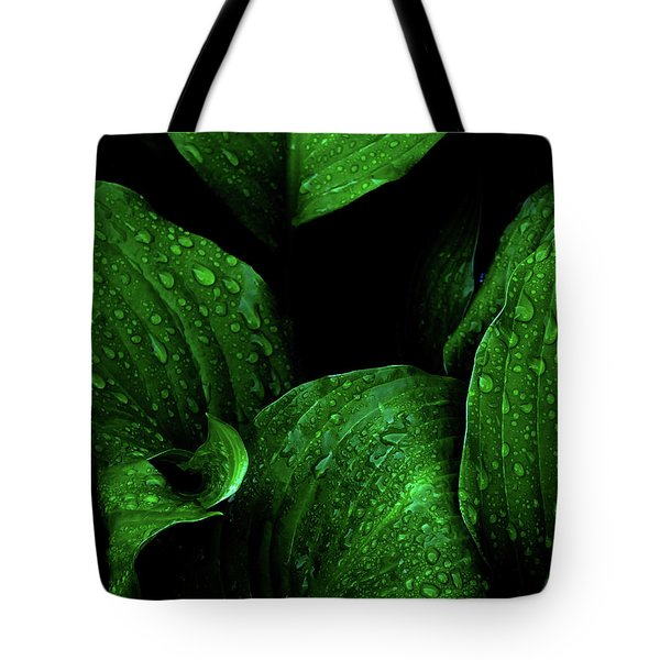 Hostas After The Rain I Tote Bag