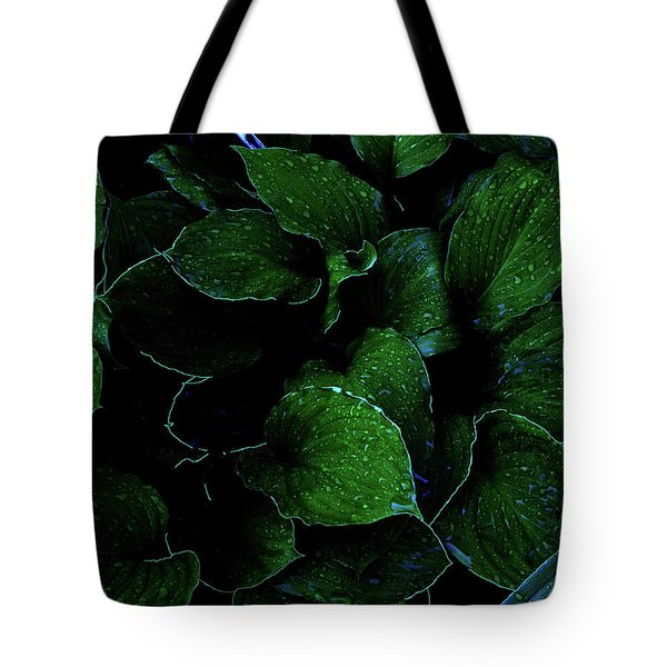 Hostas After The Rain II Tote Bag
