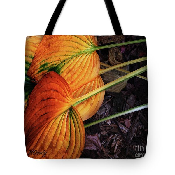 Hostas In Autumn Tote Bag