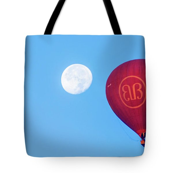 Hot Air Balloon And Moon Tote Bag