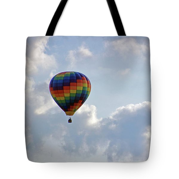 Tote Bag featuring the photograph Hot Air Balloon by Angela Murdock