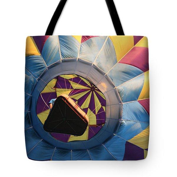 Hot Air Balloon Basket Tote Bag