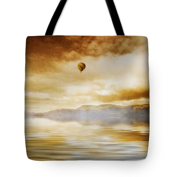 Hot Air Balloon Escape Tote Bag