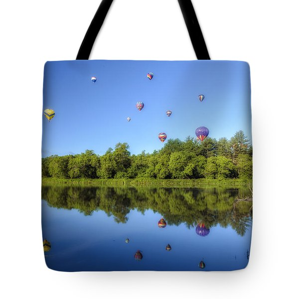 Quechee Balloon Fest Reflections Tote Bag