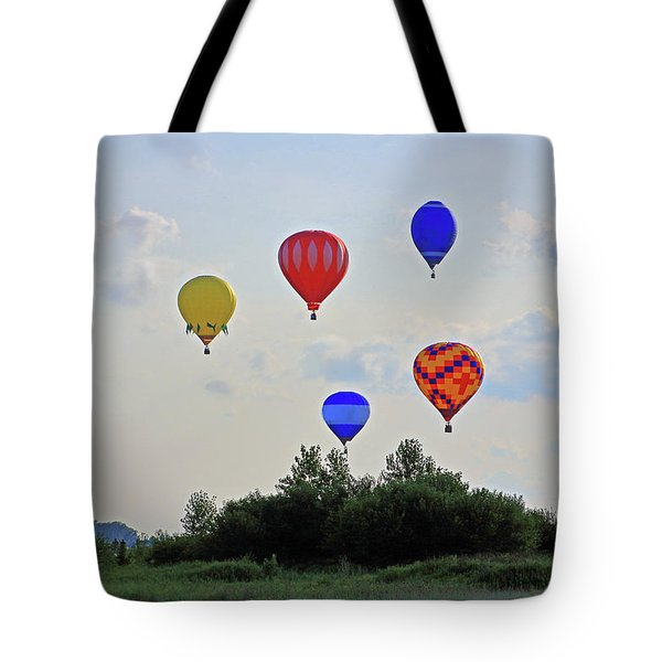 Tote Bag featuring the photograph Hot Air Balloon Launch by Angela Murdock