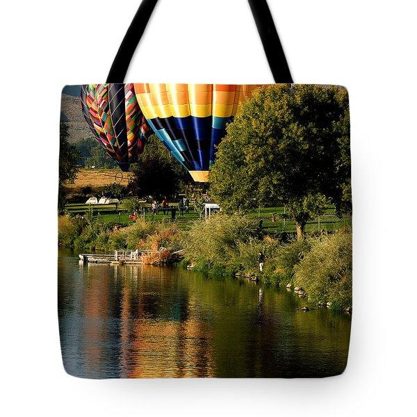 Hot Air Balloon Rally Tote Bag by David Patterson