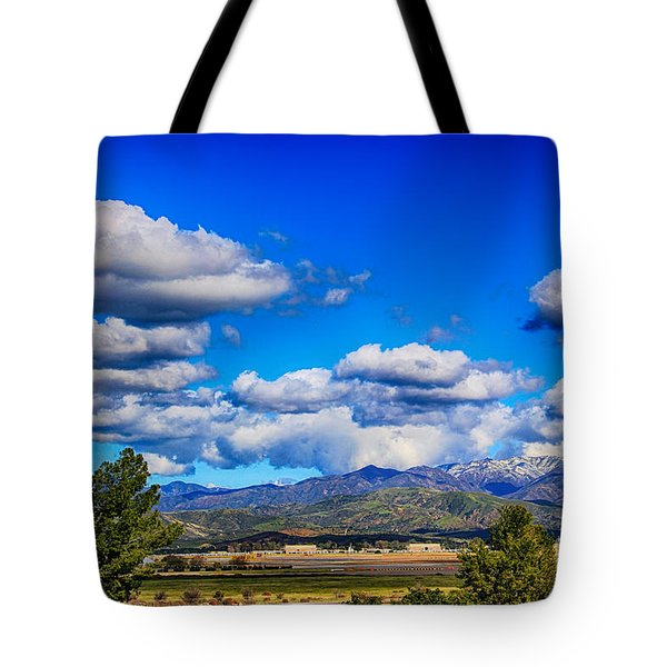 Hot Air Balloon Ride In Orange County Tote Bag by Mariola Bitner