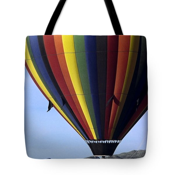 Hot Air Balloon  Tote Bag by Sally Weigand