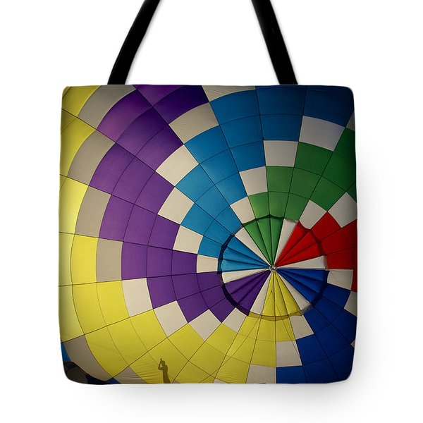 Hot Air Balloon Silhouette Tote Bag