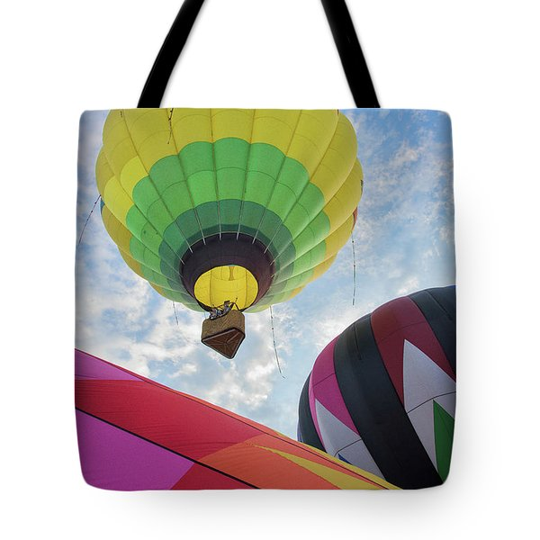 Hot Air Balloon Takeoff Tote Bag