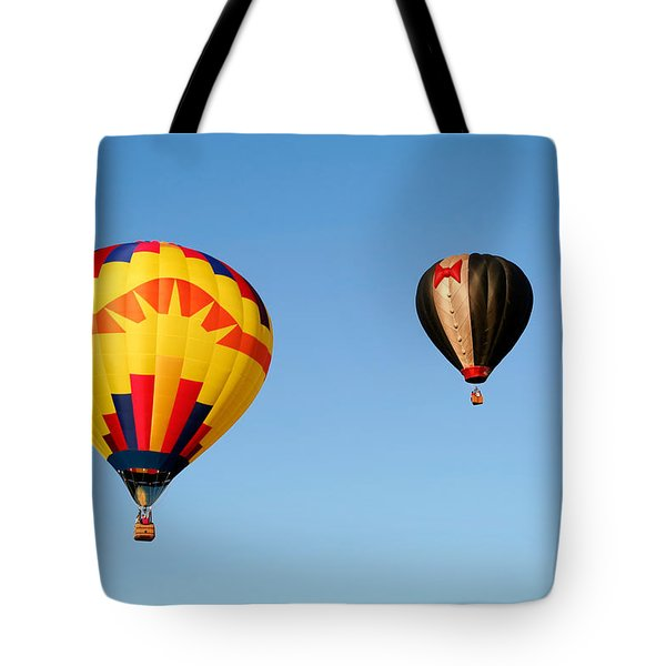 Hot Air Balloons 3 Tote Bag by Nicolas Raymond