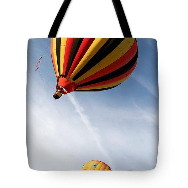 Hot Air Balloons 4 Tote Bag by Nicolas Raymond