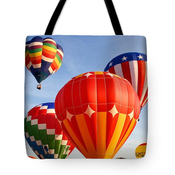 Hot Air Balloons 5 Tote Bag by Nicolas Raymond