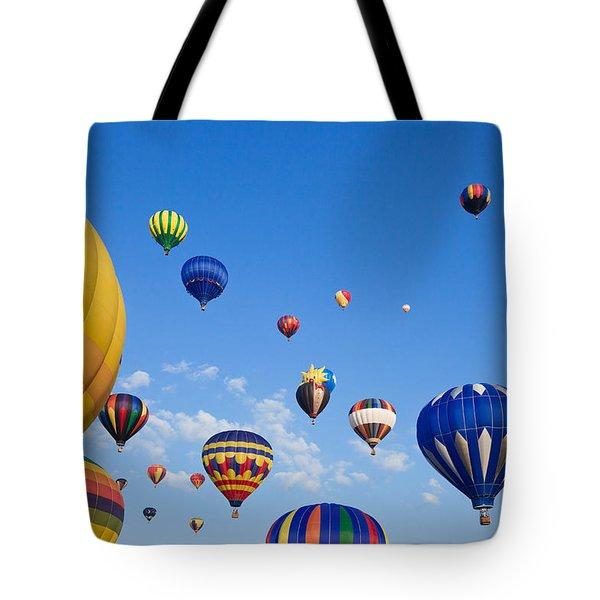Hot Air Balloons 6 Tote Bag by Nicolas Raymond