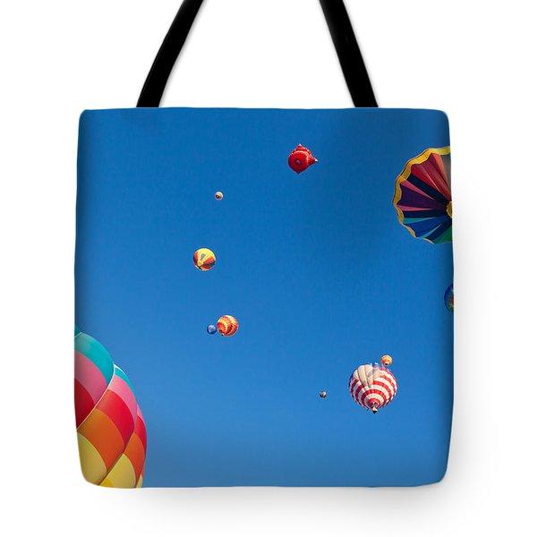 Hot Air Balloons 9 Tote Bag by Nicolas Raymond