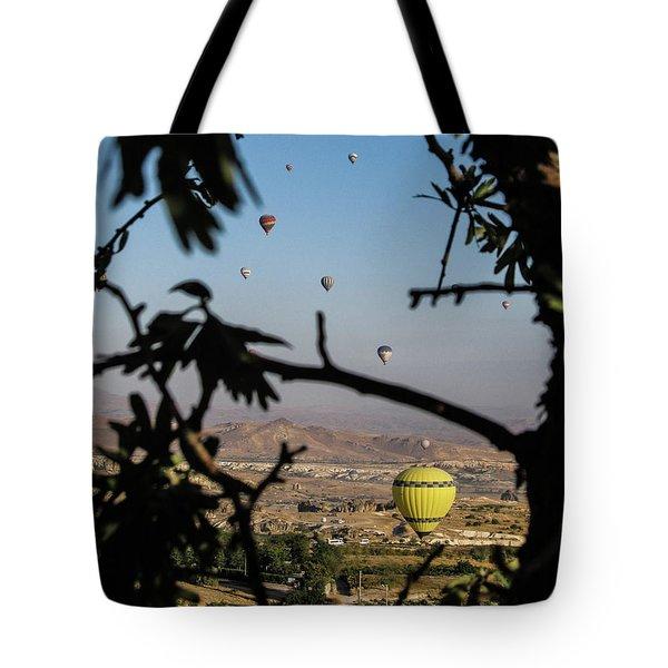 Hot Air Balloons In Cappadocia, Turkey Tote Bag