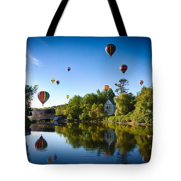 Hot Air Balloons In Queechee 2015 Tote Bag