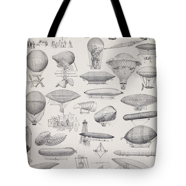 Hot Air Balloons Throughout History Tote Bag