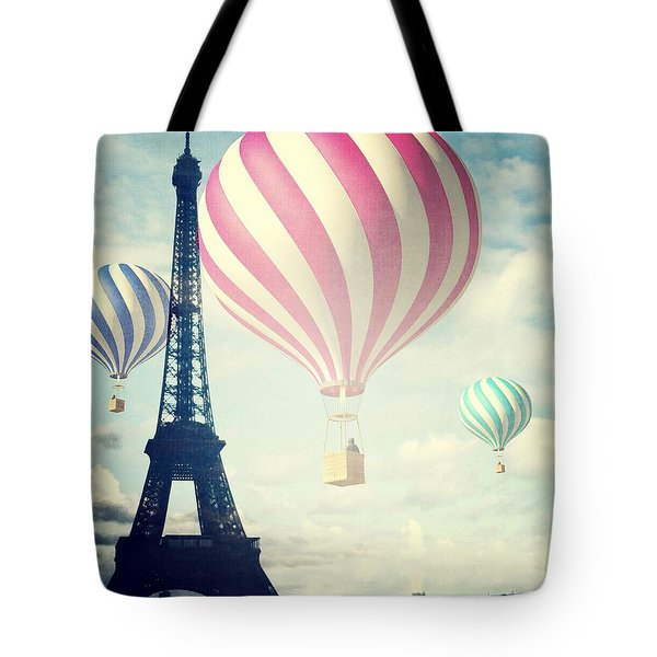 Hot Air Balloons In Paris Tote Bag