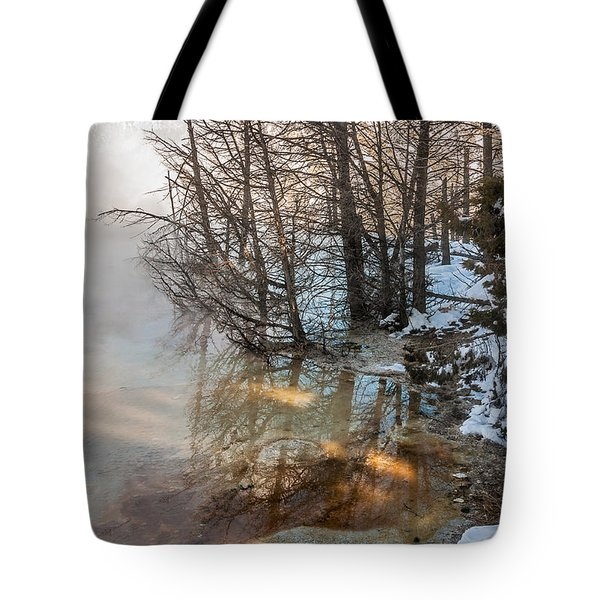 Hot And Cold In Yellowstone Tote Bag