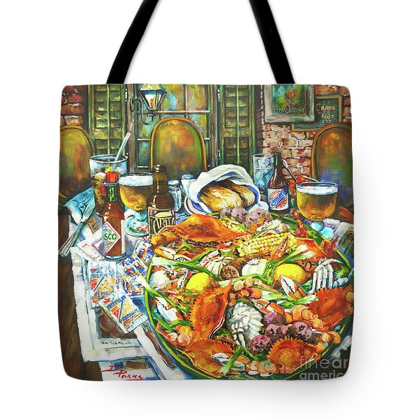 Hot Boiled Crabs Tote Bag