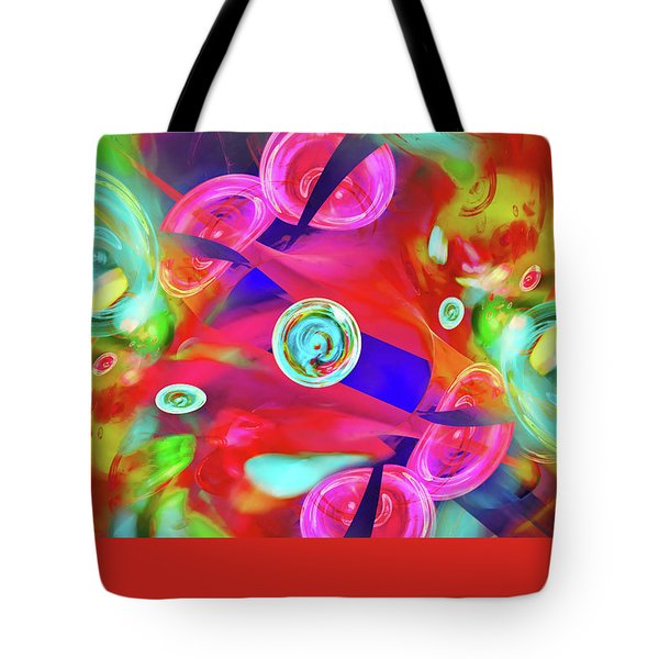 Tote Bag featuring the digital art Hot Candy by Menega Sabidussi