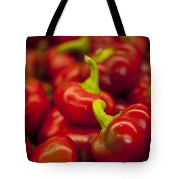 Hot Cherry Peppers Tote Bag