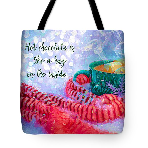 Tote Bag featuring the digital art Hot Chocolate 2016 by Kathryn Strick