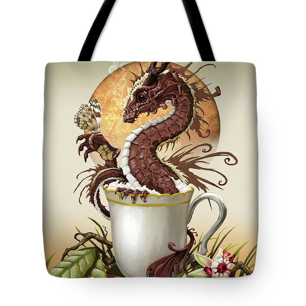 Hot Chocolate Dragon Tote Bag