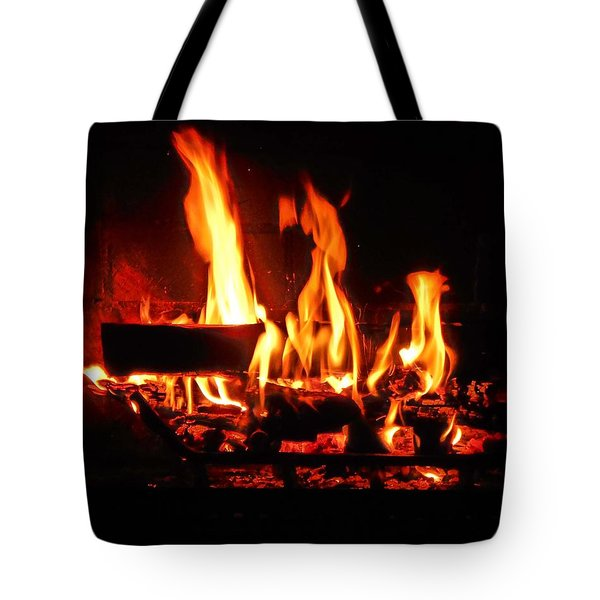 Tote Bag featuring the photograph Hot Coals by Steve Godleski