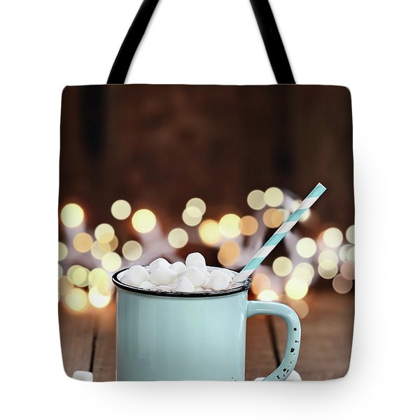 Hot Cocoa With Mini Marshmallows Tote Bag by Stephanie Frey
