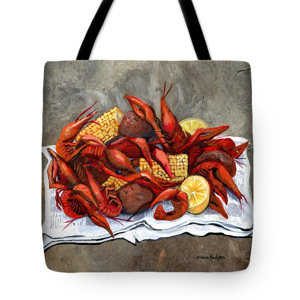 Hot Crawfish Tote Bag by Elaine Hodges
