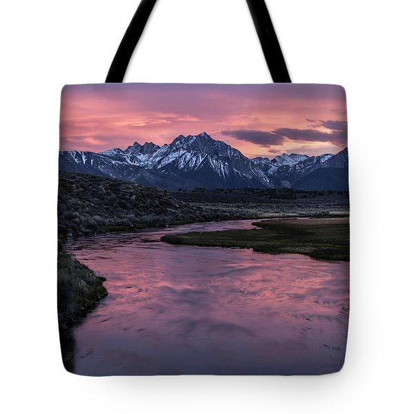 Hot Creek Sunset Tote Bag