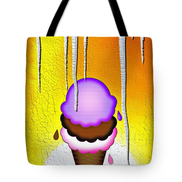 Hot Day Ice Cream Tote Bag