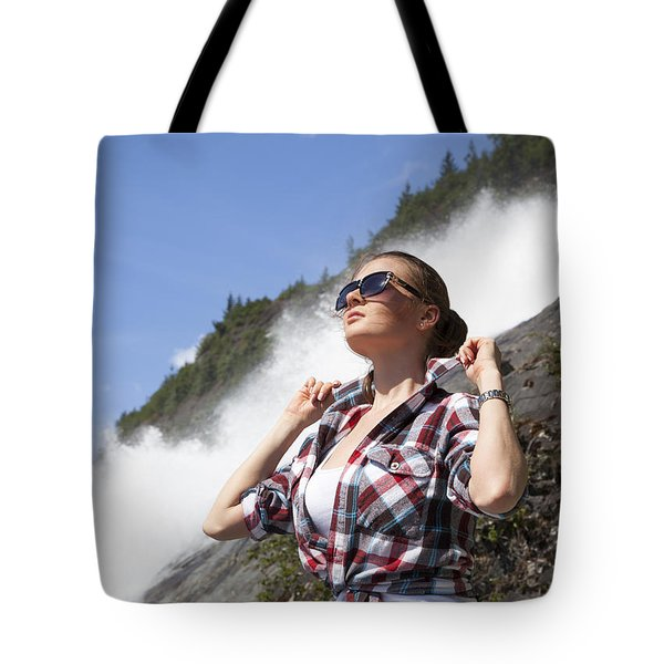 Hot Day In Alaska Tote Bag