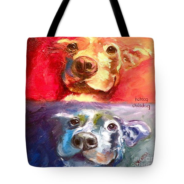 Hot Dog Chilly Dog Study Tote Bag