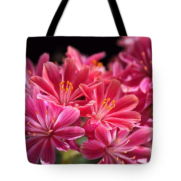 Hot Glowing Pink Delight Of Flowers Tote Bag