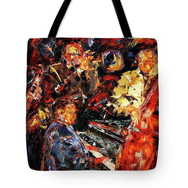Hot Jazz 2 Tote Bag by Debra Hurd