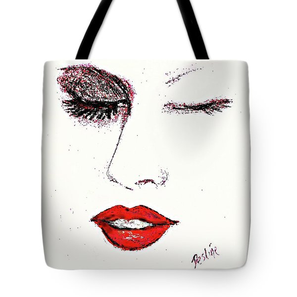 Hot Lips Tote Bag by Desline Vitto