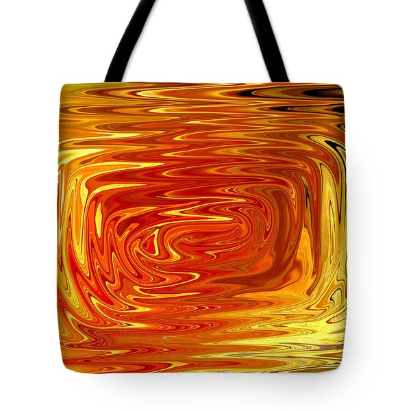 Tote Bag featuring the digital art Hot by Mary Bedy