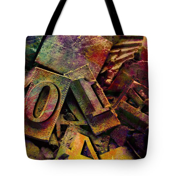 Hot Metal Type Tote Bag