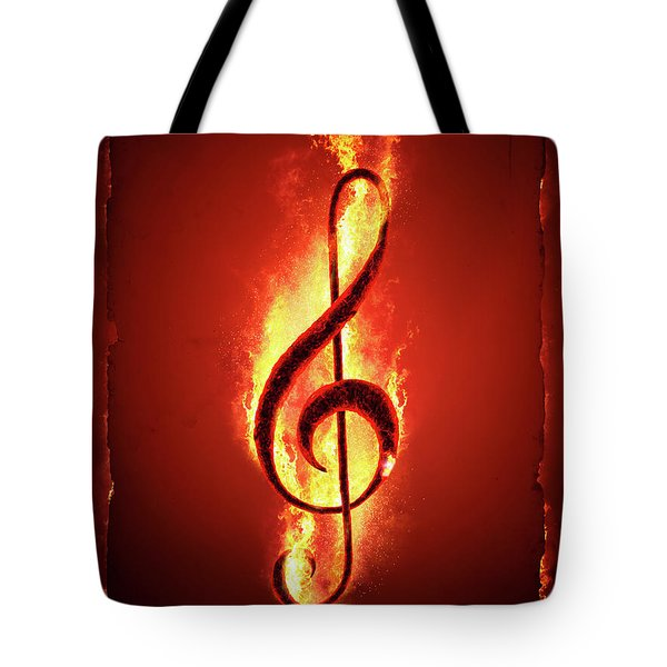 Hot Music Tote Bag