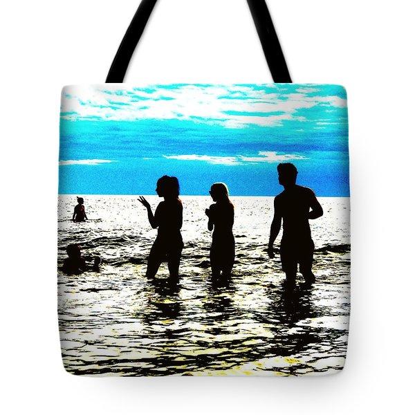 Hot Night At The Beach Tote Bag