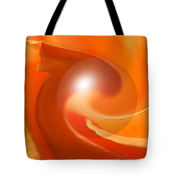 Hot Orange Globe Tote Bag