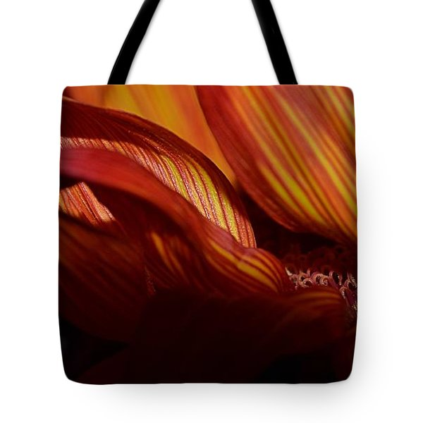 Hot Orange Sunflower Tote Bag