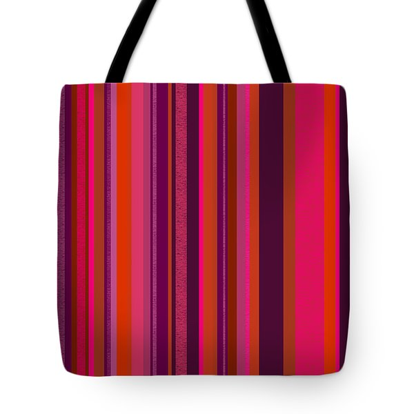 Hot Pink And Orange Stripes - Two Tote Bag