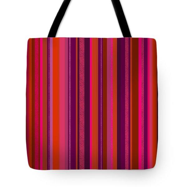 Hot Pink And Orange Stripes Tote Bag