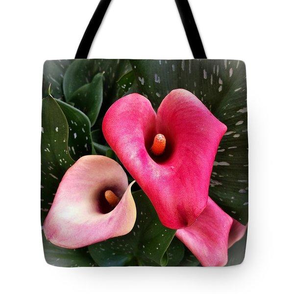 Hot Pink Calla Lily Tote Bag