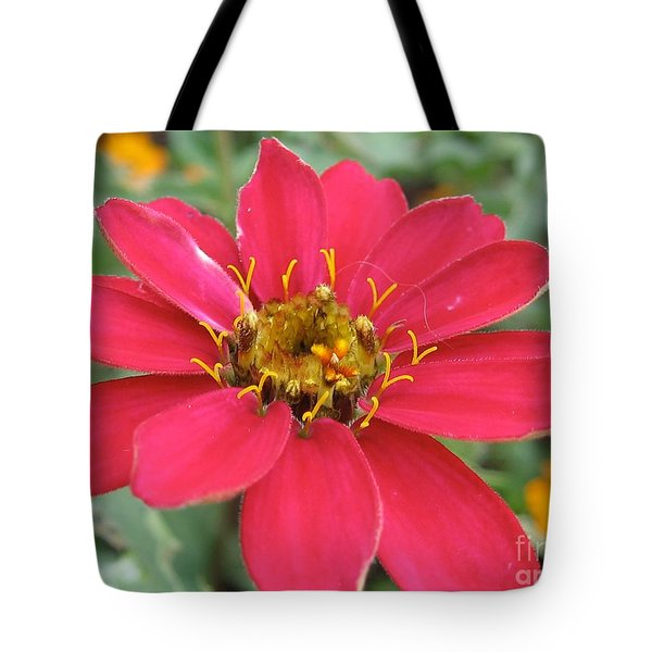 Hot Pink Flower Tote Bag